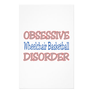 Obsessive Wheelchair Basketball Disorder Stationery