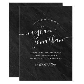 Obsidian | Black Marble Wedding Invitation