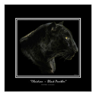 """OBSIDIAN"" ~ BLACK PANTHER Art Print"