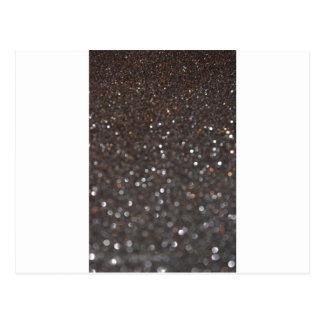 Obsidian glitter postcard