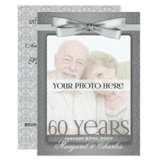 OBSOLETE 60th Diamond Wedding Anny Photo Party Card
