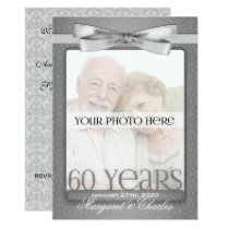 OBSOLETE 60th Diamond Wedding Anny Photo Party Invitation