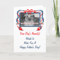 OBSOLETE: Blue and Red Father's From the Dog Card