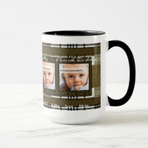 OBSOLETE: Brown Plaid 4 Photo Mug