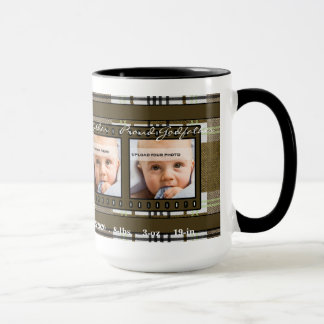 OBSOLETE Brown Plaid Proud Godfather 4 Photo Mug