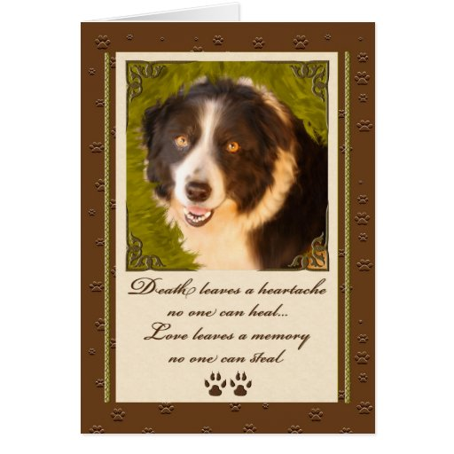 OBSOLETE: Pet Sympathy | Loss of a Dog See NEW Card