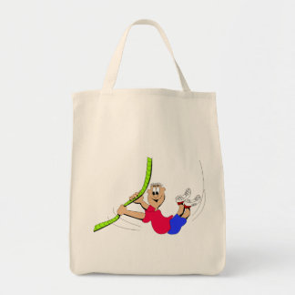 Obstacle Course Grocery Tote Bag