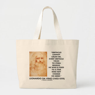 Obstacles Cannot Crush Me Fixed To A Star Quote Jumbo Tote Bag
