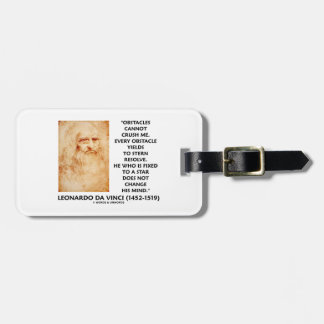 Obstacles Cannot Crush Me Fixed To A Star Quote Luggage Tag