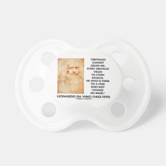 Obstacles Cannot Crush Me Fixed To A Star Quote BooginHead Pacifier