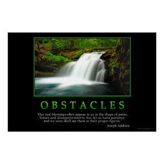 Obstacles Poster