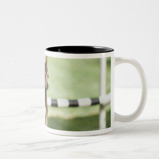Obstáculo de salto de la chihuahua taza de café