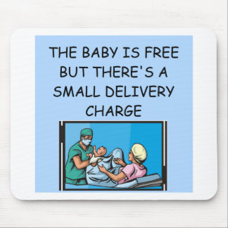obstetrian joke mouse pad
