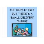 obstetrian joke postcard