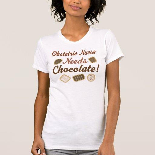 Obstetric Nurse Chocolate Tee Shirts