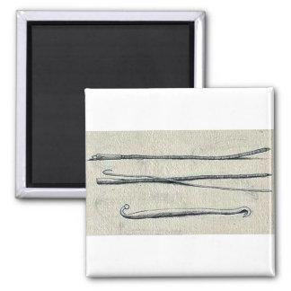Obstetrical hook and crochet Ukiyo-e. Refrigerator Magnet