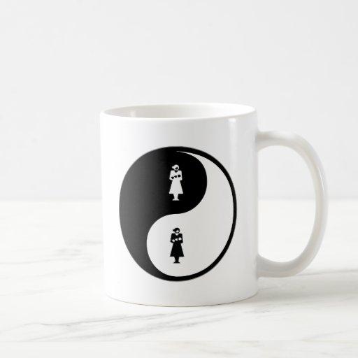 Obstetricia de Yin Yang Tazas De Café