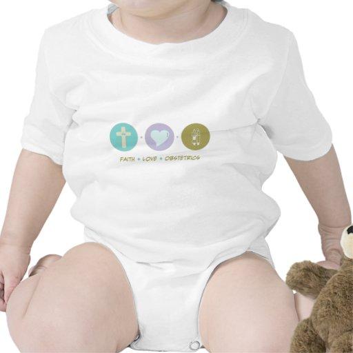 Obstetricia del amor de la fe trajes de bebé