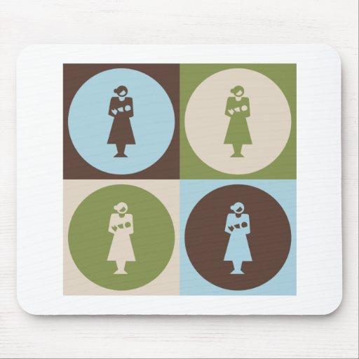 Obstetricia del arte pop mouse pads