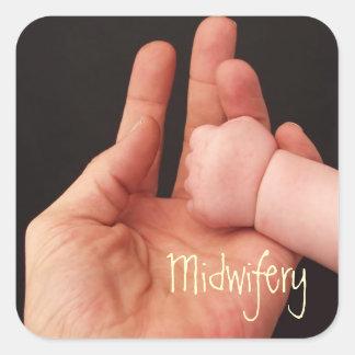 Obstetricia Pegatina Cuadrada