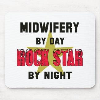 Obstetricia por el día rockstar por noche alfombrillas de ratones
