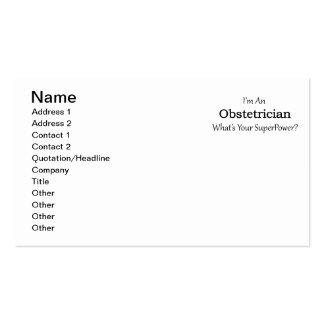 Obstetrician Business Card