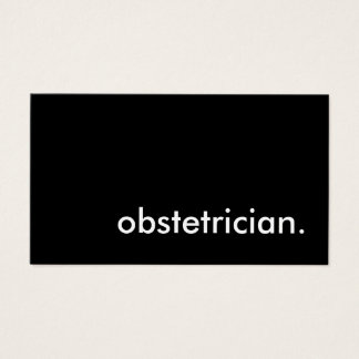 obstetrician. business card