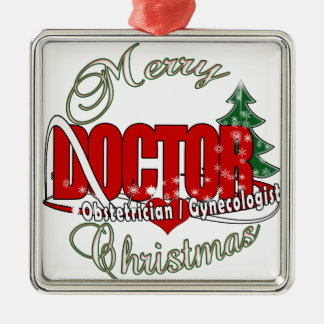 OBSTETRICIAN / GYNECOLOGIST CHRISTMAS DOCTOR METAL ORNAMENT