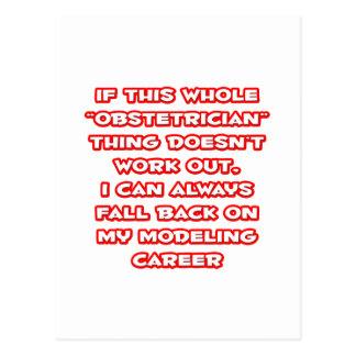 Obstetrician Humor ... Modeling Career Postcard