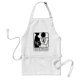 OBSTETRICIAN LOGO - WOMAN'S PERI AND POST NATAL DR ADULT APRON