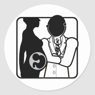 OBSTETRICIAN LOGO - WOMAN'S PERI AND POST NATAL DR STICKER