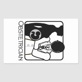 OBSTETRICIAN LOGO - WOMAN'S PERI AND POST NATAL DR RECTANGLE STICKER