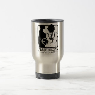 OBSTETRICIAN LOGO - WOMAN'S PERI AND POST NATAL DR TRAVEL MUG