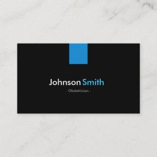 Ob gyn physician business cards zazzle obstetrician modern aqua blue business card colourmoves