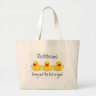 Obstetricians and Yellow Rubber Ducks Canvas Bags