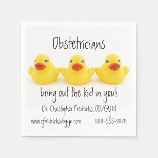 Obstetricians and Yellow Rubber Ducks Paper Napkins