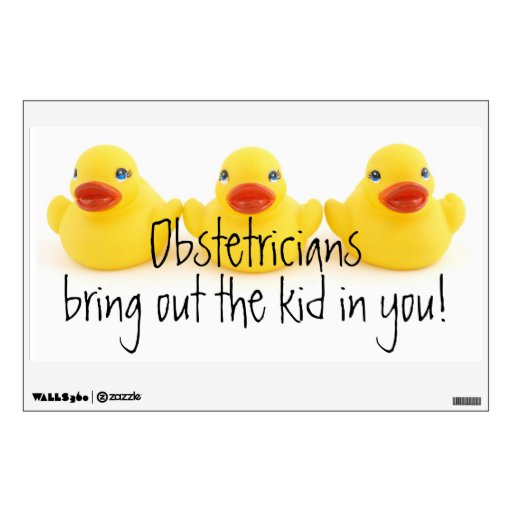 Obstetricians and Yellow Rubber Ducks Wall Skin