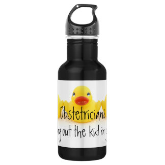 Obstetricians and Yellow Rubber Ducks Water Bottle