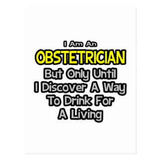 Obstétrico. Bebida para una vida Postales