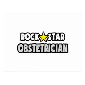 Obstétrico de la estrella del rock tarjeta postal