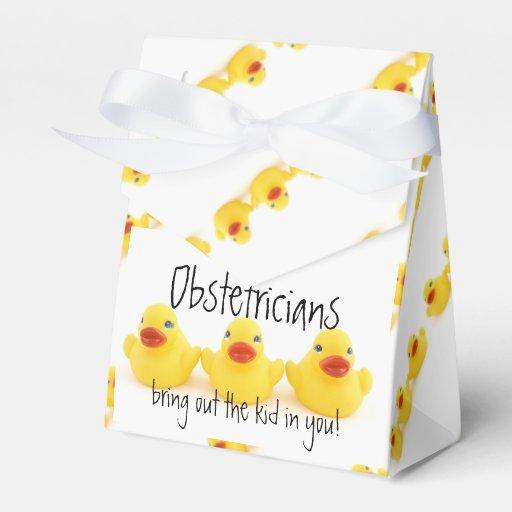 Obstétricos y patos de goma amarillos cajas para detalles de boda