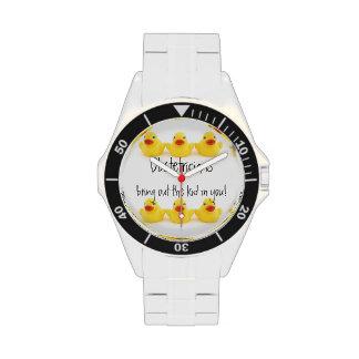 Obstétricos y patos de goma amarillos relojes de pulsera