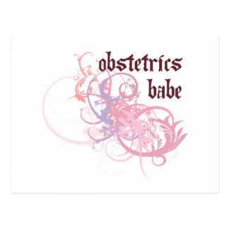 Obstetrics Babe Postcard