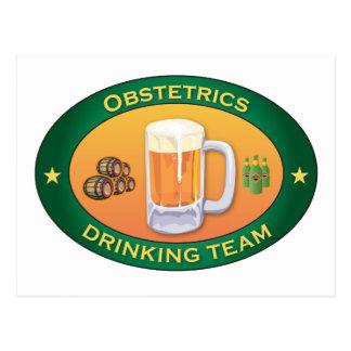 Obstetrics Drinking Team Postcard