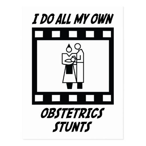 Obstetrics Stunts Post Card