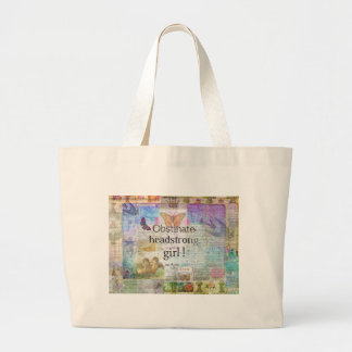 Obstinate, headstrong girl! Jane Austen quote Large Tote Bag