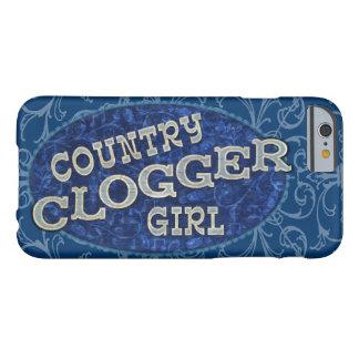 Obstrucción del chica de Clogger del país Funda De iPhone 6 Barely There