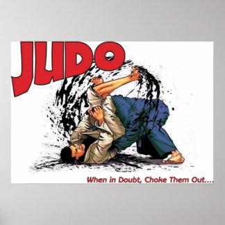 Obstrucción del judo hacia fuera posters