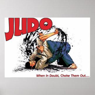 Obstrucción del judo hacia fuera póster
