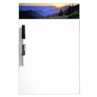 Obstruciton Point Sunset, Olympic NP, WA, USA Dry Erase Board